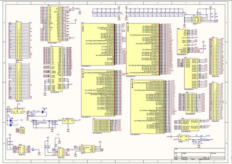 pcb抄板反推原理图电路设计及修改说明